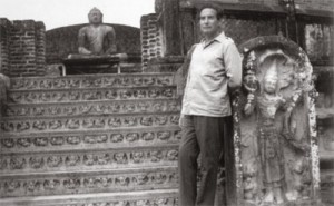 Octavio Paz on vacation at a Buddhist site. Probably in Sri Lanka, where he said snarky things about Pablo Neruda, who used to live there.