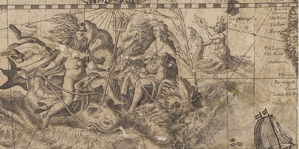 Peruvian coastal views from the 1648 map included Greek gods.