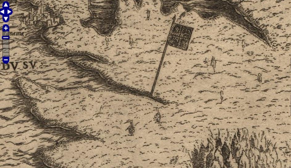 Map of Peru, Nicolas Denisot, 1545