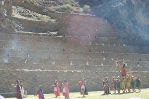 The Inka makes his grand entrance at Ollantaytambo