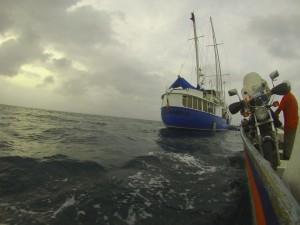 On board the lancha