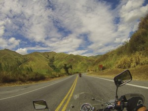 The Pan American Highway in Columbia