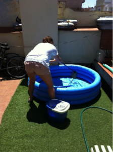 It is important to keep your kiddie pool clean.
